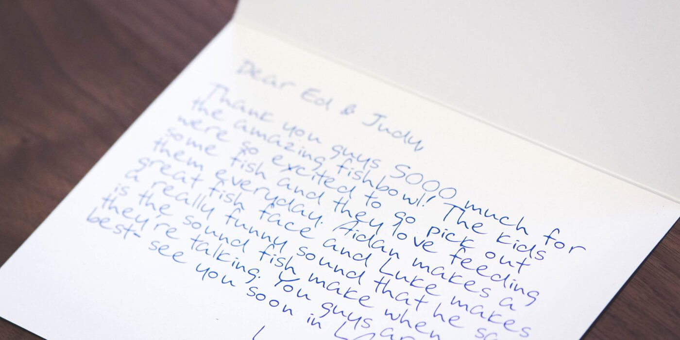 Personal Thank You Notes Sample Unique How to Write A Killer Customer Thank You Note