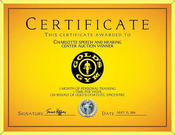 Personal Training Gift Certificate Template Awesome 10 Training Certificate Templates