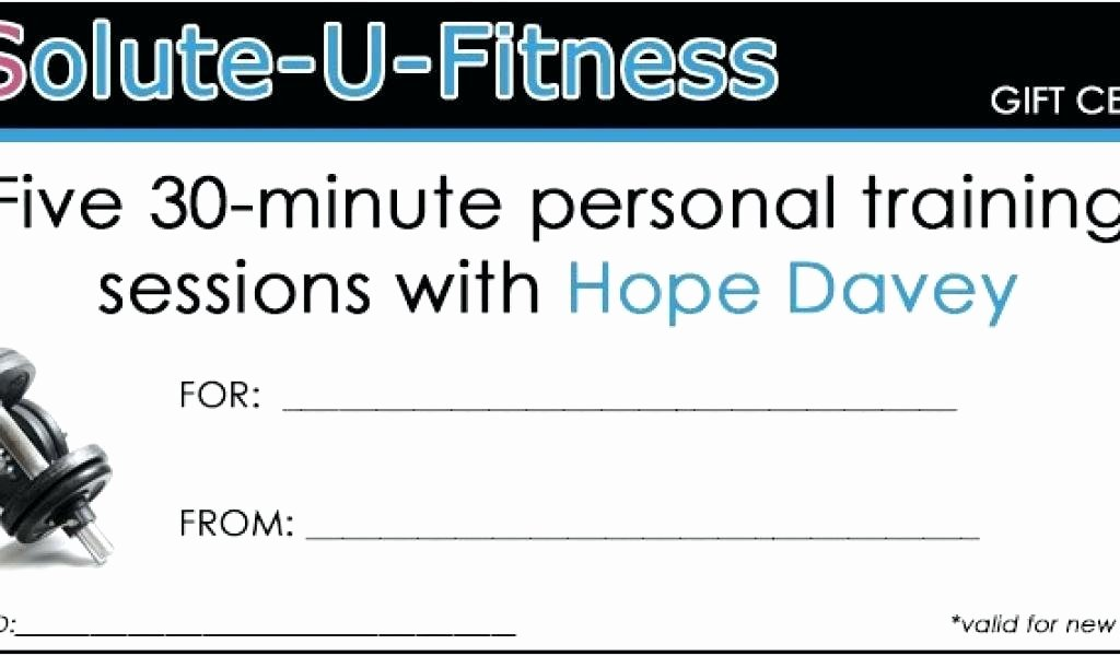 Personal Training Gift Certificate Template Awesome Personal Training T Certificate Template – Dereptilesfo