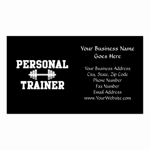Personal Training Gift Certificate Template Fresh Personal Trainer Black and White Dumbell Training Business