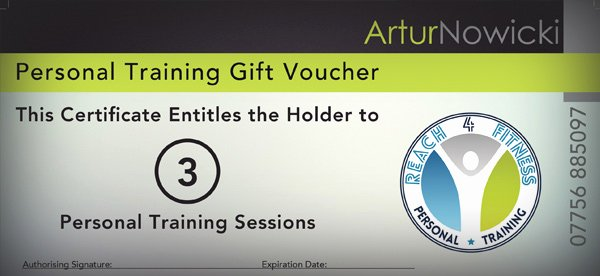 Personal Training Gift Certificate Template Fresh Personal Training Gift Voucher