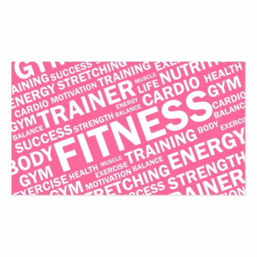 Personal Training Gift Certificate Template New Fitness Business Card Templates