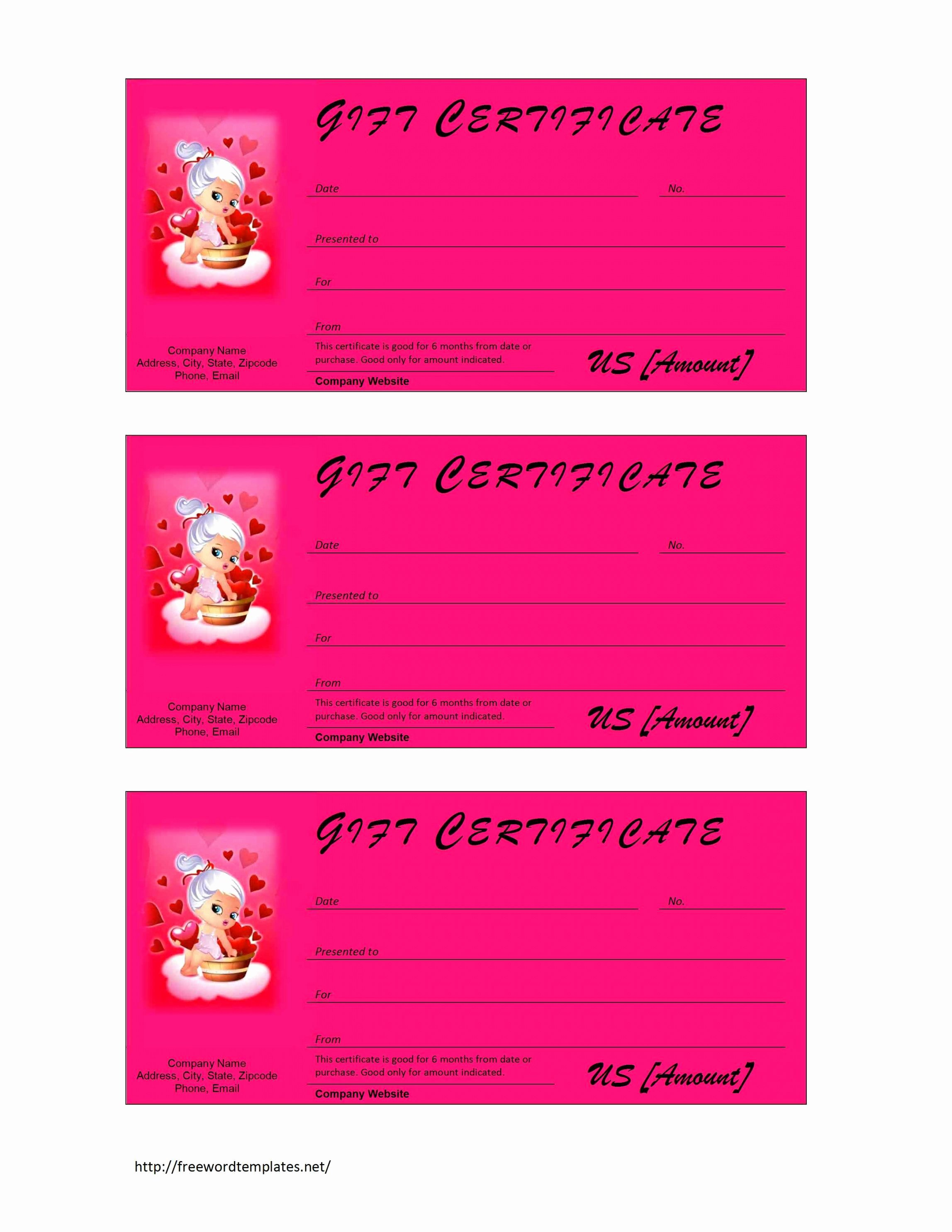 Personal Training Gift Certificate Template Unique Valentine S Day Gift Certificate Personal Training Gift