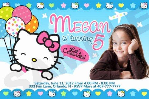 Personalized Hello Kitty Birthday Invitations Awesome Hello Kitty Birthday Party Invitation Custom Photo