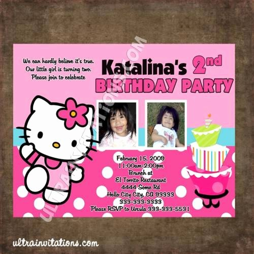 Personalized Hello Kitty Birthday Invitations Elegant Hello Kitty Birthday Invitations Personalized Invites