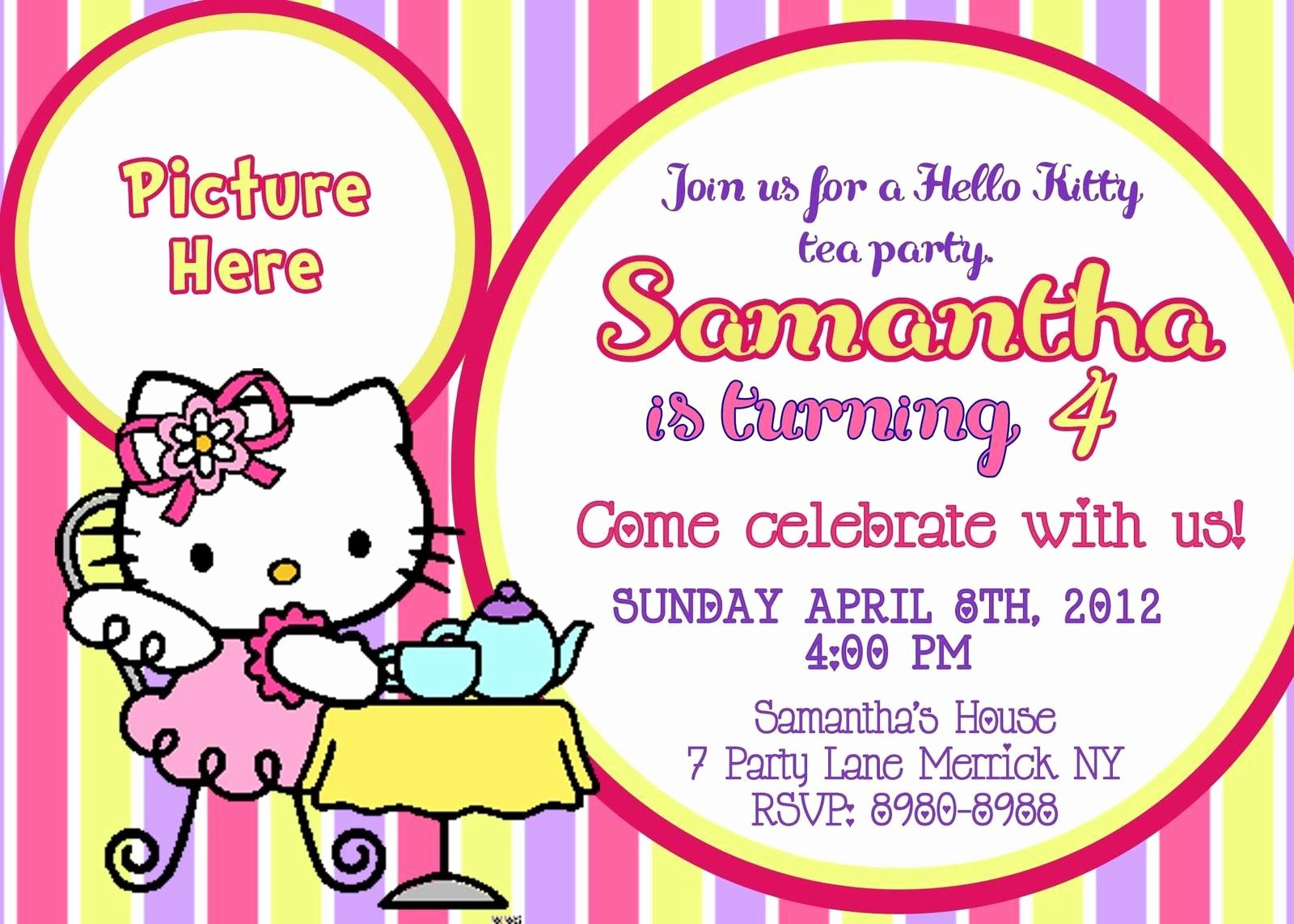 Personalized Hello Kitty Birthday Invitations Inspirational Free Printable Hello Kitty Birthday Party