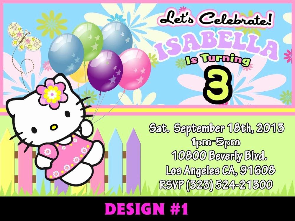 Personalized Hello Kitty Birthday Invitations Lovely 12 Printed Custom Hello Kitty Birthday Card Invitation