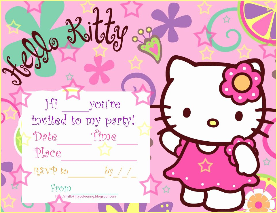 Personalized Hello Kitty Birthday Invitations Lovely Hello Kitty Coloring Pages