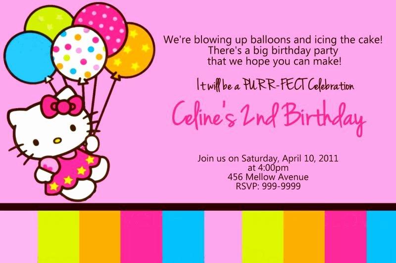 Personalized Hello Kitty Birthday Invitations Lovely Personalized Hello Kitty Birthday Invitations U Print 24