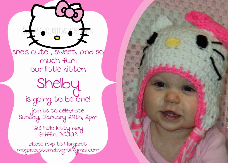 Personalized Hello Kitty Birthday Invitations Lovely Printable Personalized Hello Kitty Birthday Invitation