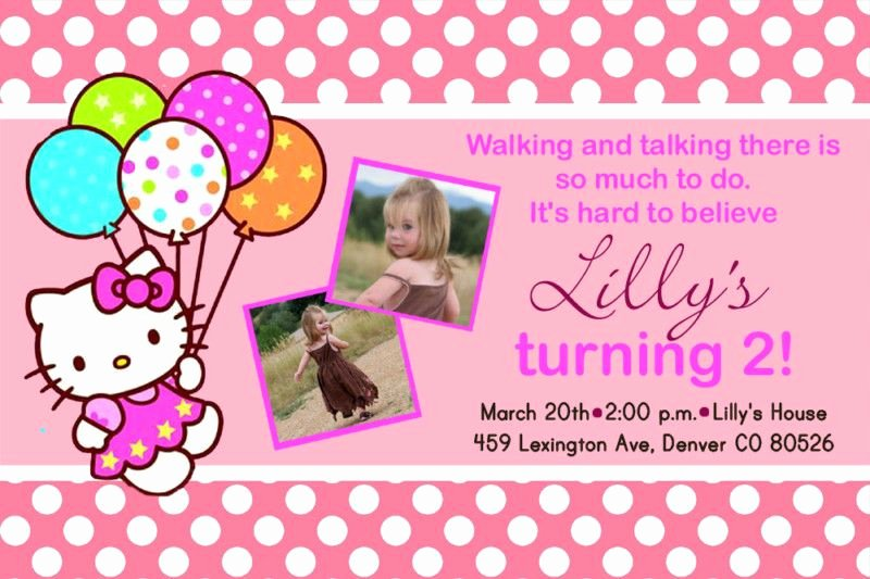 Personalized Hello Kitty Birthday Invitations Luxury Pictures Of Hello Kitty Parties
