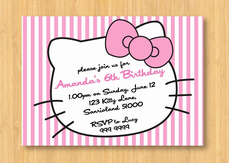 Personalized Hello Kitty Birthday Invitations New Free Hello Kitty Personalized Birthday Invitations