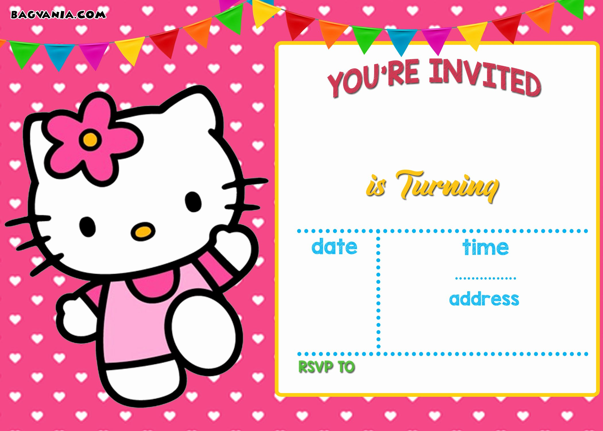 Personalized Hello Kitty Birthday Invitations Unique Free Personalized Hello Kitty Birthday Invitations