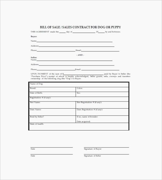 Pet Bill Of Sale Best Of top 44 Candid Free Printable Puppy Sales Contract