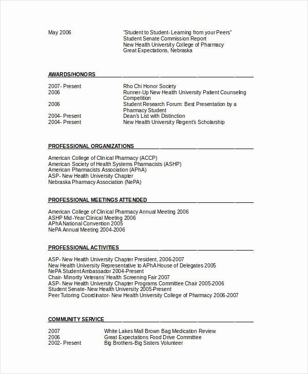 Pharmacy Curriculum Vitae Examples Best Of Pharmacy Student Curriculum Vitae Examples – Guatemalago