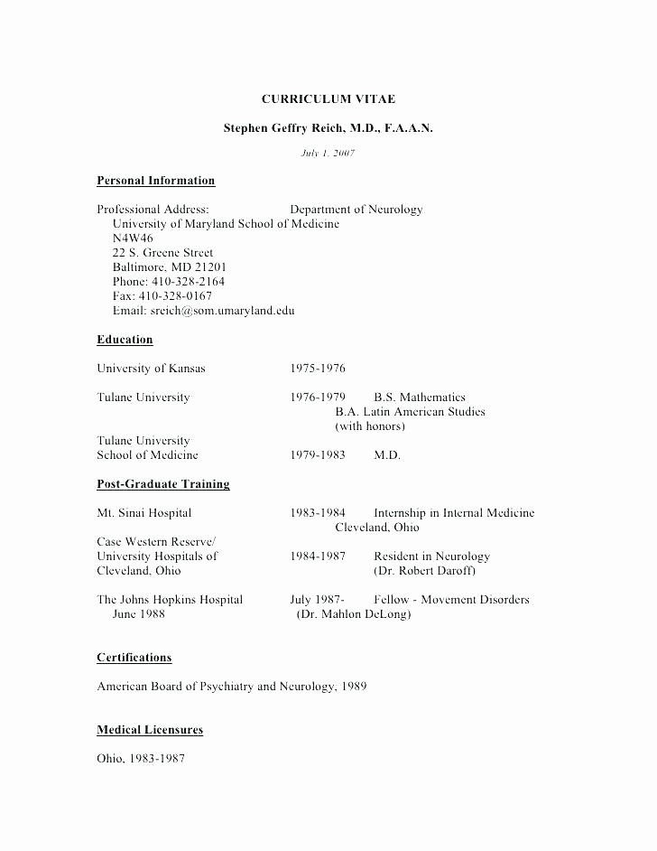 Pharmacy Curriculum Vitae Examples New 12 13 Cv Template Pharmacy Student
