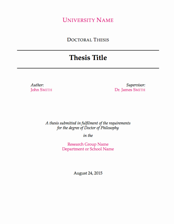 Phd Dissertation Proposal Sample Lovely Latex Templates theses