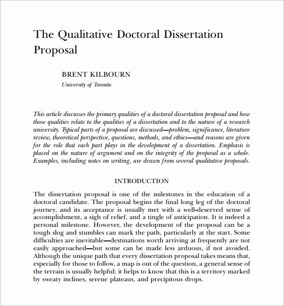 Phd Dissertation Proposal Sample Unique 11 Dissertation Proposal Templates Doc Excel Pdf