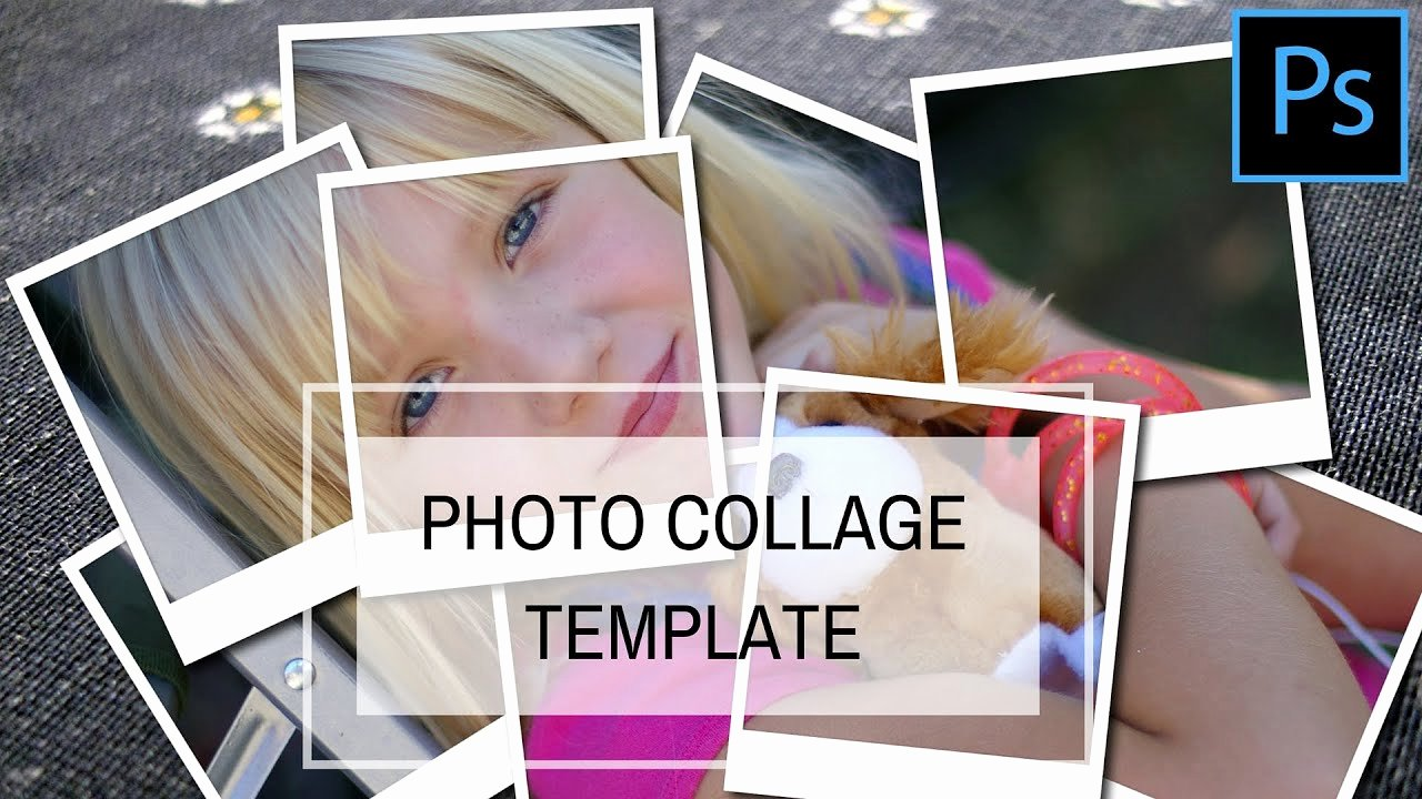 Photo Collage Template Photoshop Beautiful Create A Collage Template In Shop