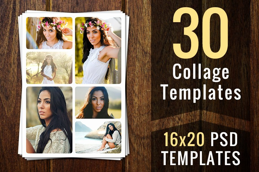 Photo Collage Template Photoshop Luxury Collage Templates Psd Template Card Templates