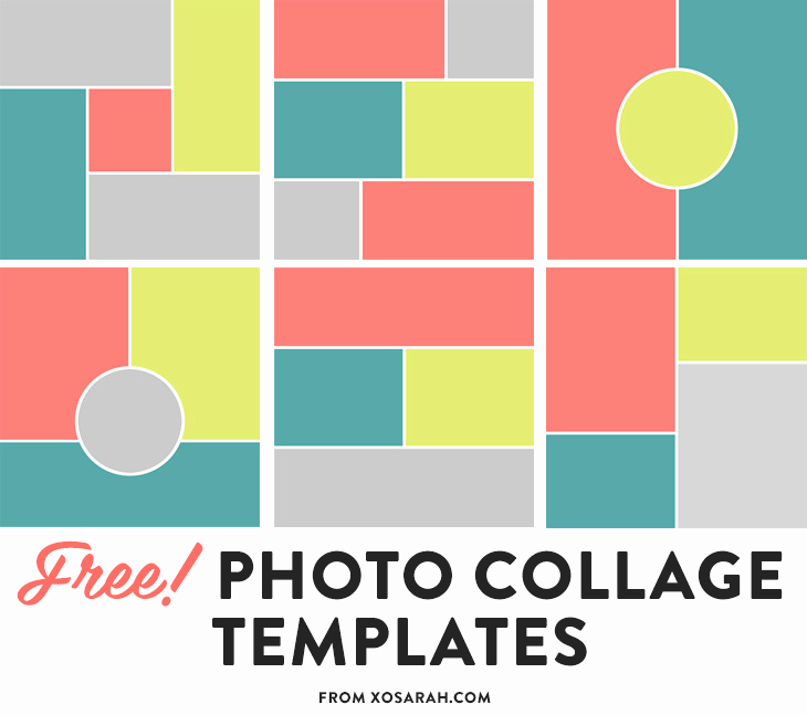 Photo Collage Template Photoshop Unique Free Collage Templates • Xo Sarah