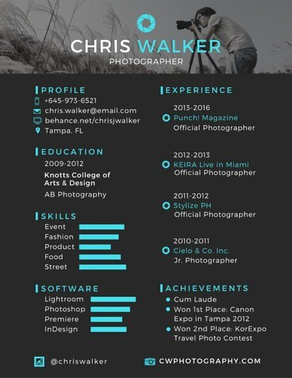 Photographer Job Description Sample Lovely Spruce Up Your Resume with A Design Like This Just Click