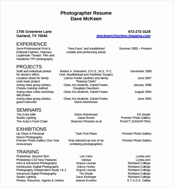 Photography Cover Letter Sample Best Of 20 Grapher Resume Template – Samples Examples