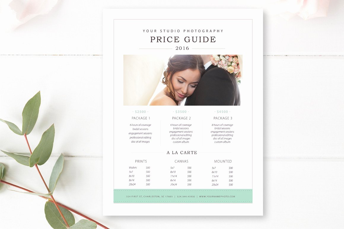 Photography Price List Template Free Awesome Graphy Price List Template Flyer Templates