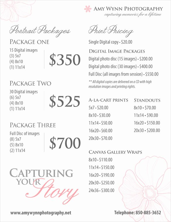 Photography Price List Template Free Beautiful 25 Price List Templates Doc Pdf Excel Psd