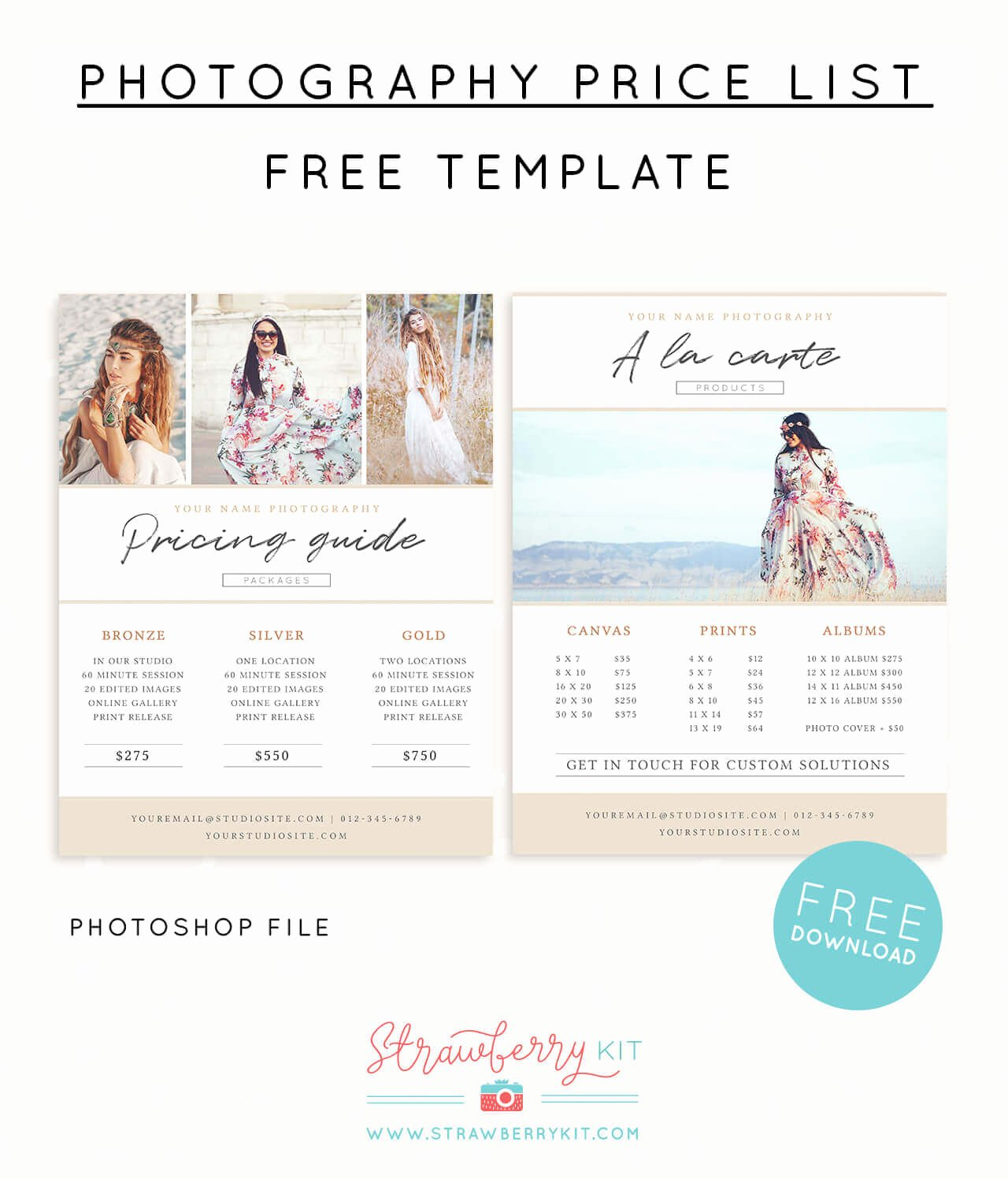 Photography Price List Template Free Beautiful Grapher Price List Template Free