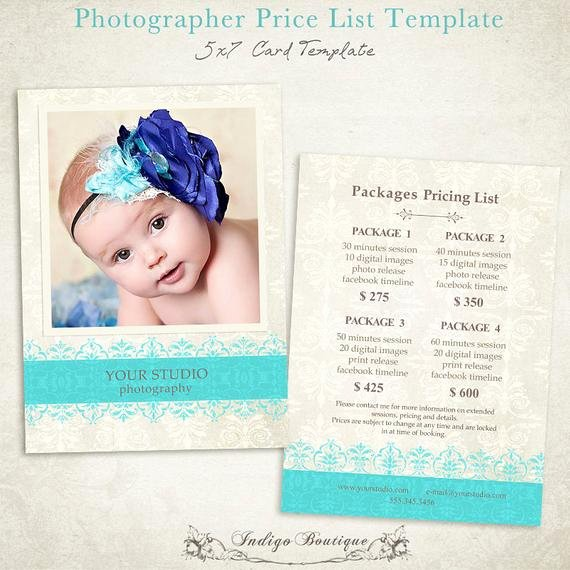 Photography Price List Template Free Best Of Items Similar to Grapher Price List Graphy