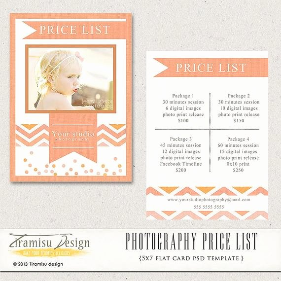 Photography Price List Template Free Elegant Graphy Price List Graphy Pricing by Tiramisudesign