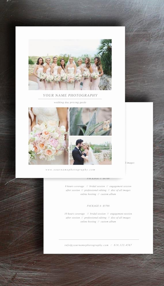 Photography Price List Template Free Fresh Wedding Graphy Price List Pricing Guide Template
