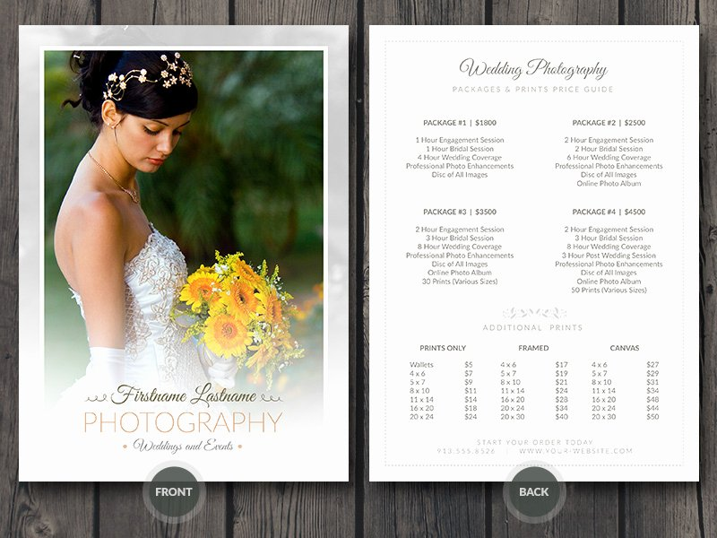 Photography Price List Template Free Inspirational Modern Graphy Price List Template Deals