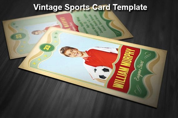 Photoshop Baseball Card Templates Beautiful Vintage Sports Card Template