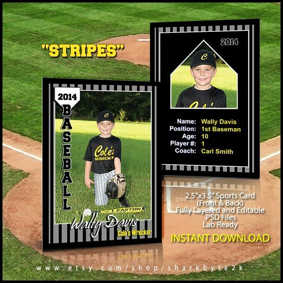 Photoshop Baseball Card Templates Fresh 2017 Baseball Sports Trader Card Template for Shop