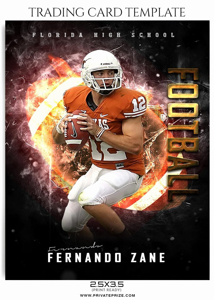 Photoshop Baseball Card Templates Fresh Fernando Zane Football Sports Trading Card Shop