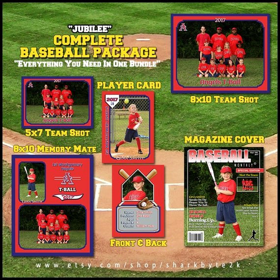 Photoshop Baseball Card Templates Lovely 2017 Baseball Template for Shop Package Includes
