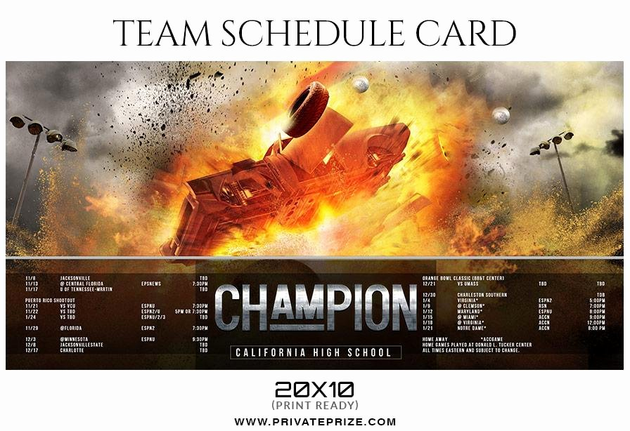 Photoshop Baseball Card Templates New Baseball Team Sports Schedule Card Shop Templates