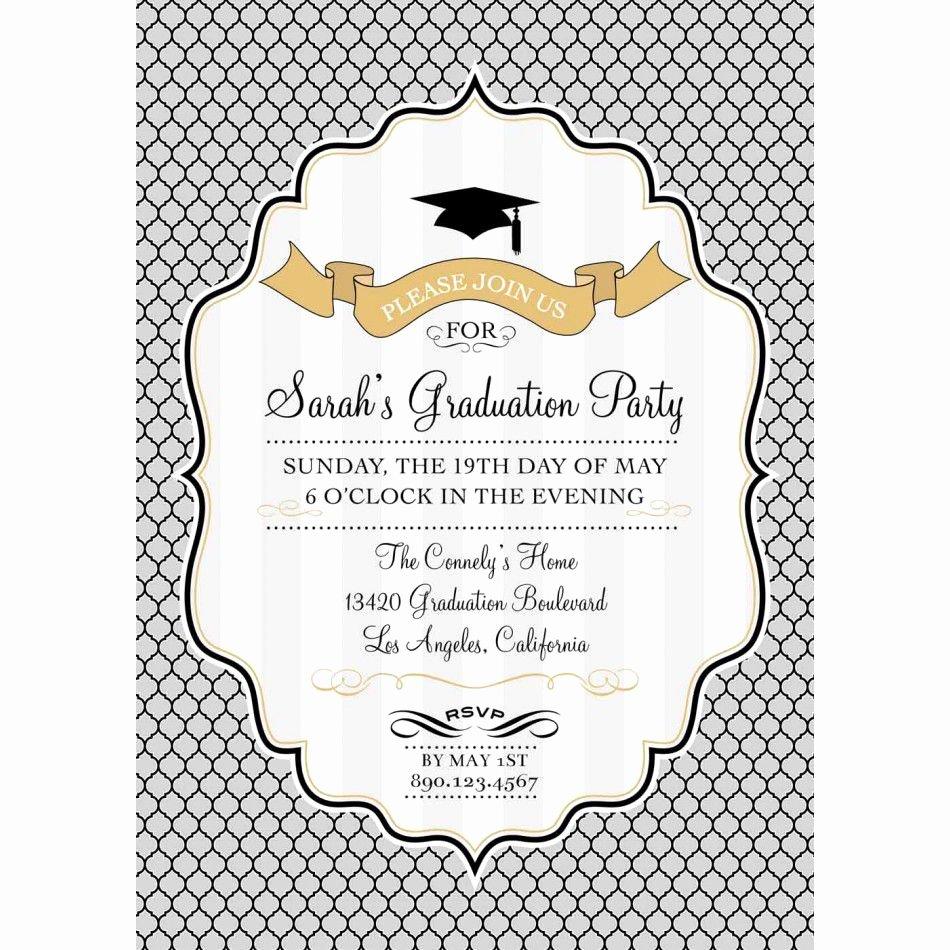 Photoshop Birthday Invitation Template Lovely Card Template Graduation Invitation Template Card