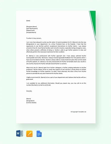 Physician assistant Recommendation Letter Beautiful 8 Sample Physician Re Mendation Letters Doc Pdf