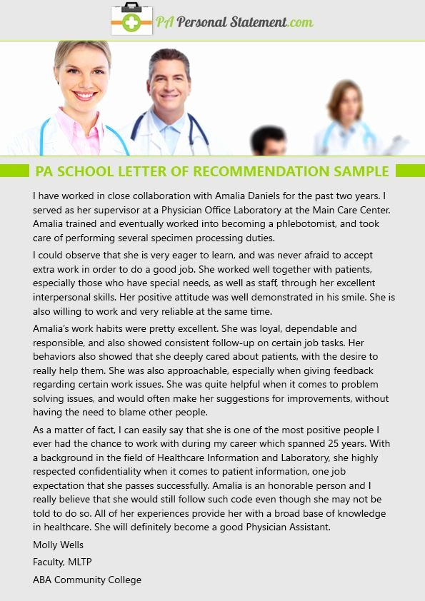 Physician assistant Recommendation Letter Fresh Pin by Pa Personal Statement Examples On Pa School Letter