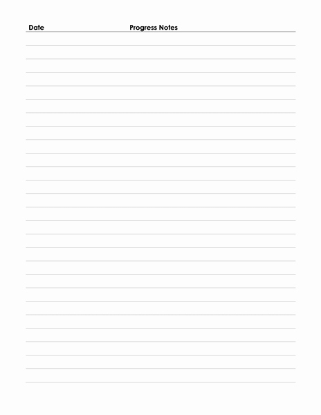 Physician Progress Note Template Best Of Patient Progress Notes form