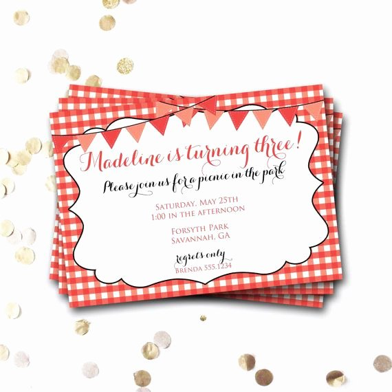 Picnic Birthday Party Invitations Elegant Best 25 Picnic Invitations Ideas On Pinterest