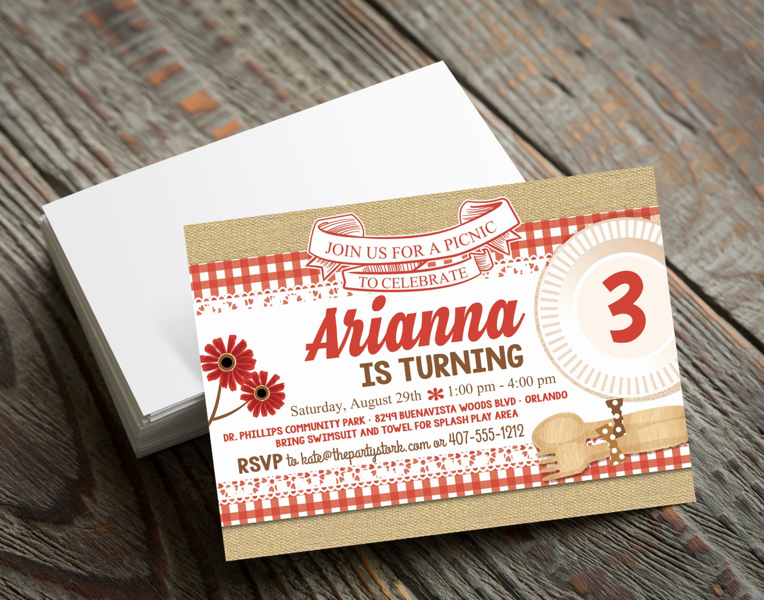 Picnic Birthday Party Invitations Fresh Picnic Invitation Picnic Party Picnic Party Invitation