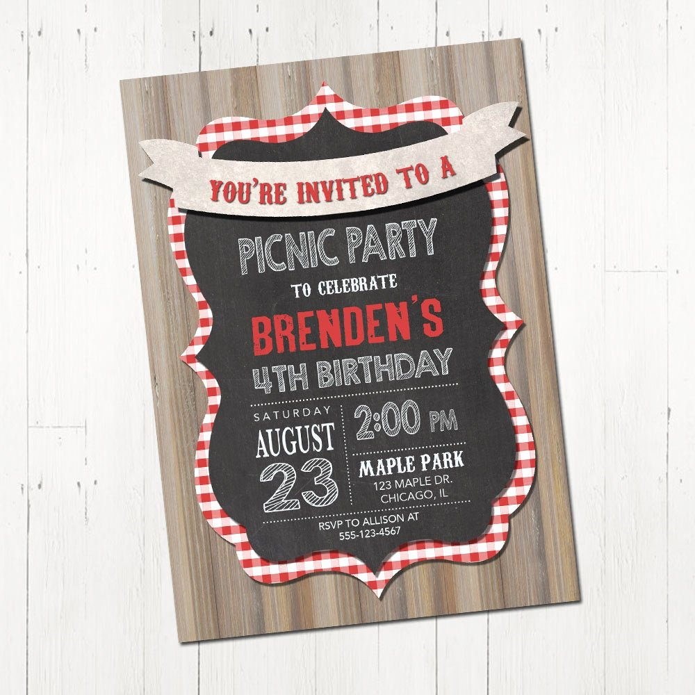Picnic Birthday Party Invitations Inspirational Picnic Birthday Party Invitation Picnic Party Invitation