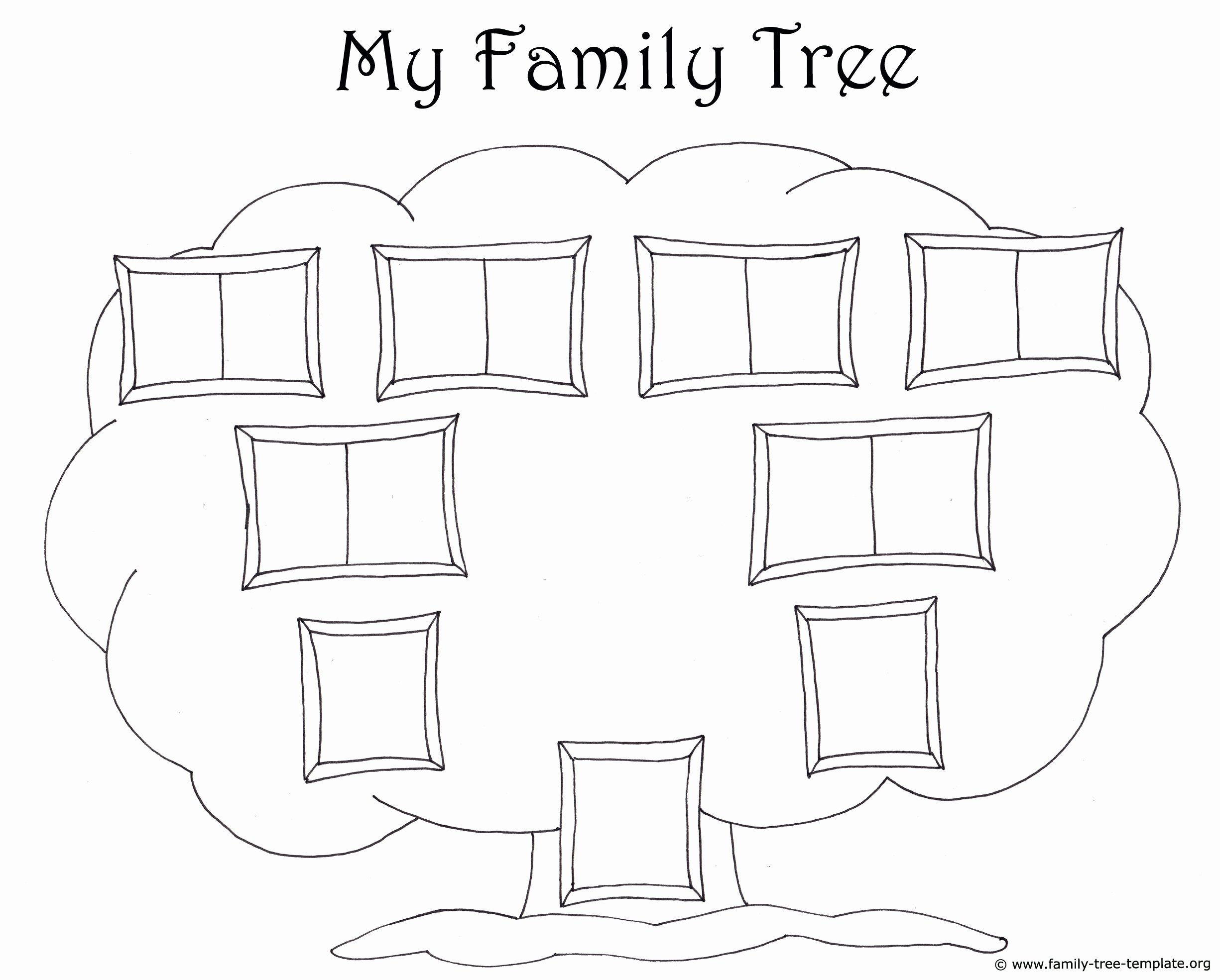 Picture Of Family Tree Chart Awesome Family Tree Template for Kids Printable Genealogy Charts