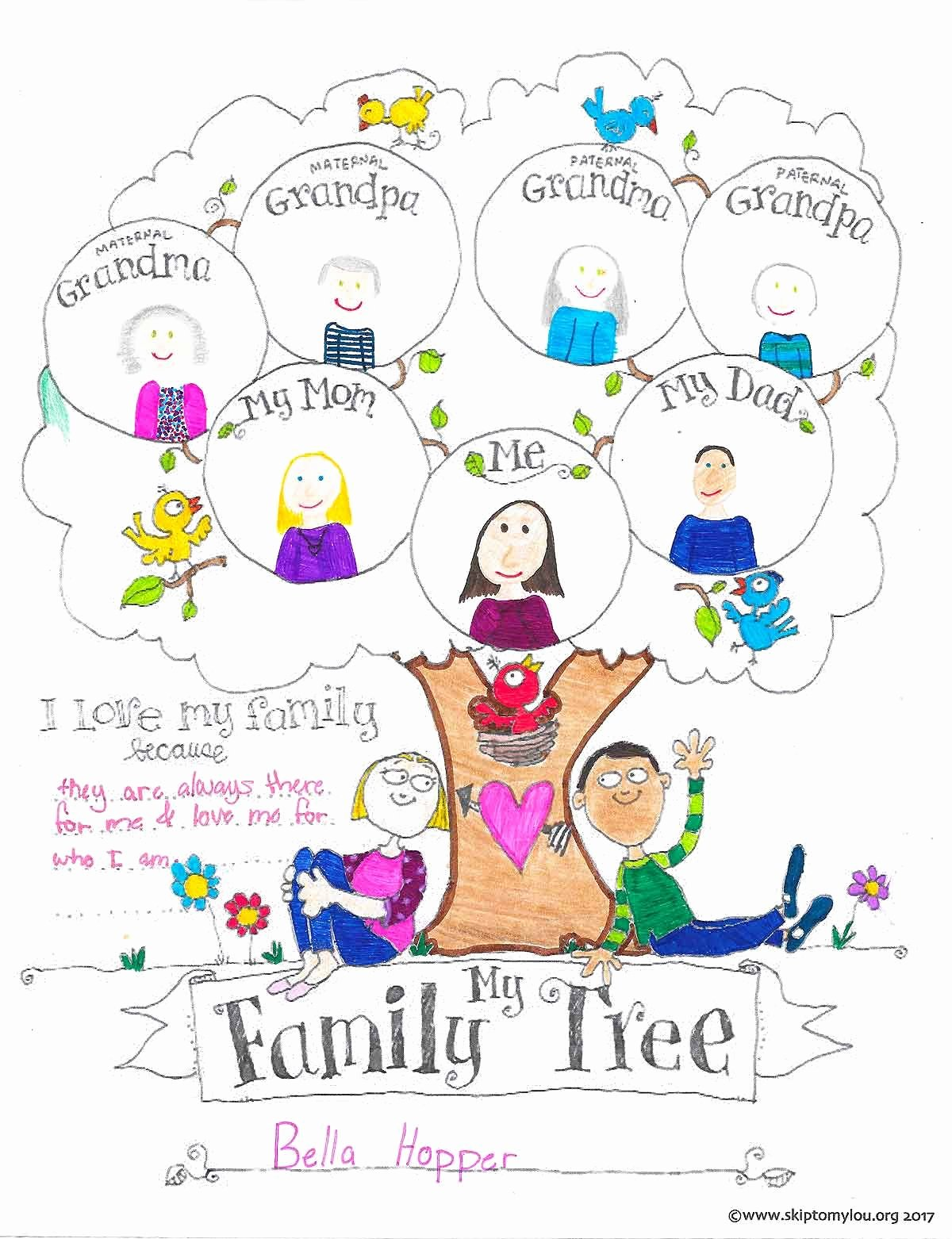 Picture Of Family Tree Chart Lovely Free Printable Family Tree Coloring Page