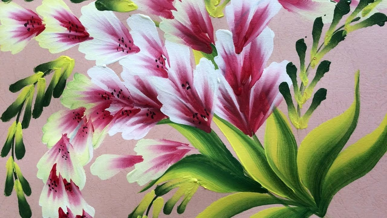 Picture Of Flowers to Paint Fresh E Stroke Painting Shell Stroke Simple Decorative