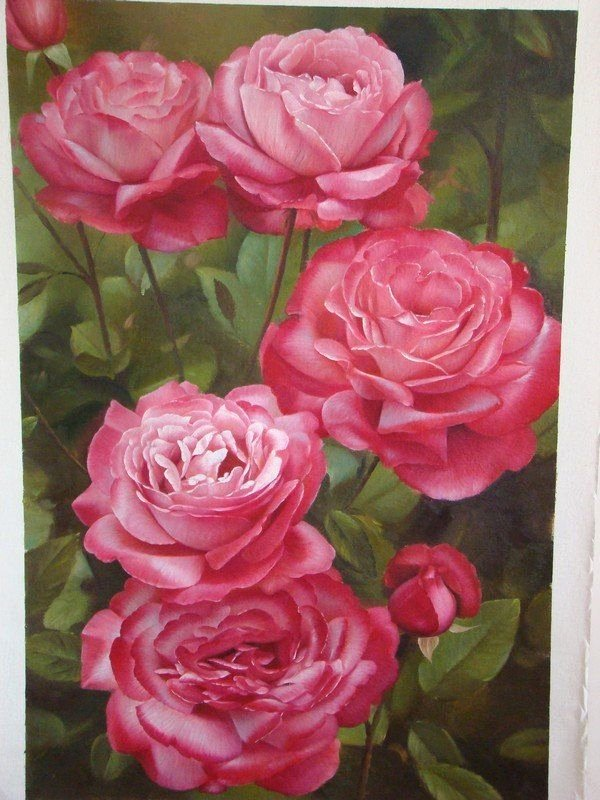 Picture Of Flowers to Paint Luxury 40 Beautiful and Realistic Flower Paintings for Your